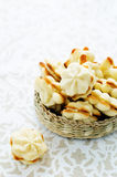 Cookies sable with cream cheese Royalty Free Stock Photos