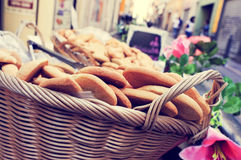 Cookies on sale in a basket in Marseille, France Stock Photos