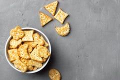 Cookies salgados secas do biscoito imagens de stock royalty free