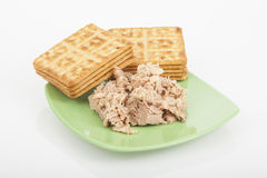 Cookies of salt with tuna Stock Images