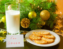 Cookies for Santa Claus. Royalty Free Stock Photography