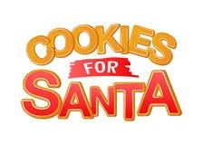 Cookies for Santa. Good for t-shirt, mug, scrap booking, gift, printing press. Holiday quotes. vector illustration