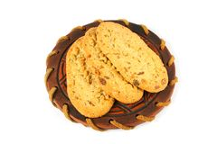 Cookies on a saucer Royalty Free Stock Images