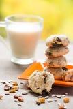 Cookies saudáveis caseiros Fotografia de Stock