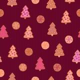 Cookies seamless pattern Royalty Free Stock Photos