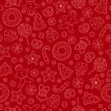 Cookies seamless pattern Royalty Free Stock Photography