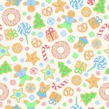 Cookies seamless pattern Royalty Free Stock Image