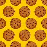 Cookies seamless pattern. pastry background. Food ornament. Swee. T biscuits texture Stock Photography