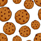 Cookies seamless pattern. pastry background. Food ornament. Swee. T biscuits texture Royalty Free Stock Image