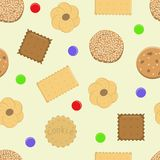 Cookies seamless vector pattern  for design royalty free illustration