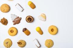 Cookies secas da pastelaria Imagens de Stock Royalty Free