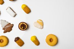 Cookies secas da pastelaria Fotos de Stock Royalty Free