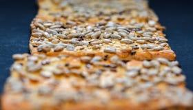 Cookies with seeds close up Stock Photos