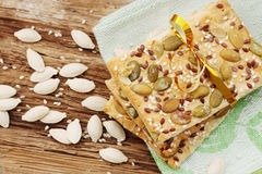 Cookies with seeds Stock Image