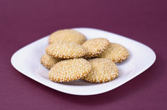 Cookies with sesame Stock Images