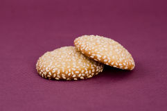 Cookies with sesame Royalty Free Stock Image