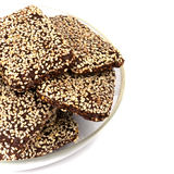 Cookies with sesame seeds Stock Photos