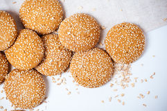 Cookies with sesame seeds Stock Photo