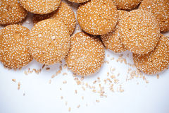 Cookies with sesame seeds Royalty Free Stock Images