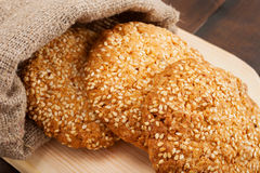 Cookies with sesame seeds Royalty Free Stock Photography