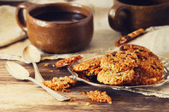 Cookies from sesame seeds Stock Images