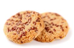 Cookies with sesame seeds. Stock Image
