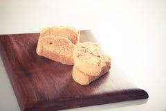 Cookies set on wooden block - retro style Stock Image