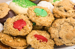 Cookies of several styles on a plate Stock Images