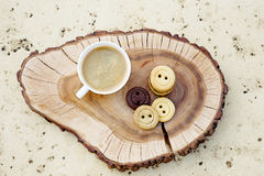 Cookies in shape of buttons Royalty Free Stock Photography