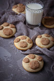 Cookies in the shape of cats paw Stock Image