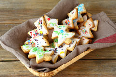 Cookies in the shape of a christmas  tree Royalty Free Stock Images