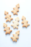 Cookies in the shape of Christmas trees Royalty Free Stock Photography