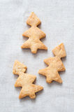 Cookies in the shape of Christmas trees Royalty Free Stock Image