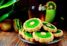 Cookies in the shape of a flower Stock Photo