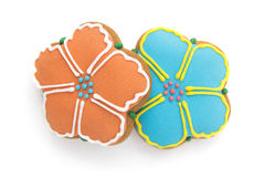 Cookies in the shape of flowers Stock Photos