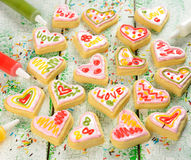 Cookies in the shape of heart Stock Image