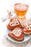 Cookies in the shape of a heart Royalty Free Stock Photography