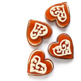 Cookies in the shape of a heart Royalty Free Stock Photos