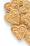 Cookies in the shape of a heart Stock Photo