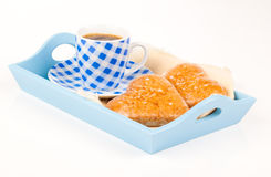 Cookies in the shape of heart with coffee cup Royalty Free Stock Image