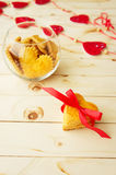 Cookies in the Shape of Heart at Day St Valentine Royalty Free Stock Image