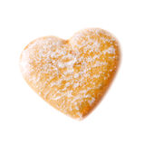 Cookies in the shape of a heart Royalty Free Stock Images