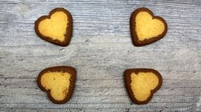 Cookies in the shape of a heart stock photos
