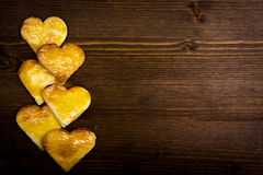 Cookies in the shape of heart Royalty Free Stock Images