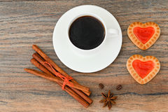 Cookies in the Shape of Hearts Stock Photo