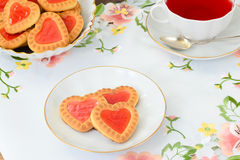Cookies in the Shape of Hearts Royalty Free Stock Image