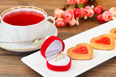 Cookies in the Shape of Hearts Royalty Free Stock Images
