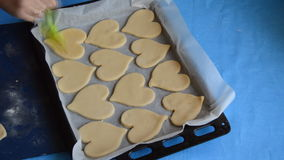 Cookies In The Shape Of Hearts stock video