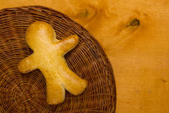 Cookies in the shape of a man Stock Photos