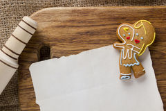 Cookies in the shape of man Stock Photo